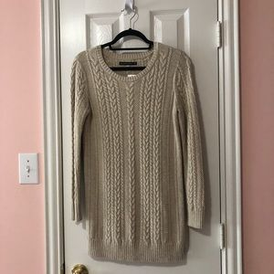 Abercrombie & Fitch Cable Knit Sweater Dress NWT